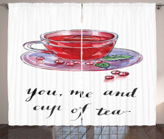 You Me and Cup of Tea Curtain