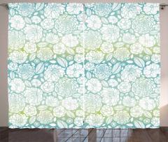 Soft Toned Blossom Petals Curtain