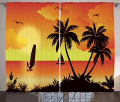 Coconut Palms and Surfer Curtain