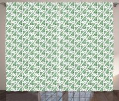 Simple Creative Ecology Theme Curtain