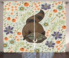 Botanical Forest Animal Curtain