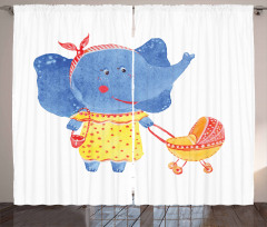 Mother and Baby Curtain