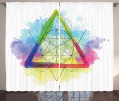 Rainbow Triangles Curtain