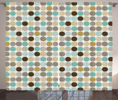 Abstract Dots Pattern Curtain