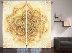 Artistic Old Mandala Curtain