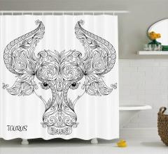 Astrology Taurus Sign Shower Curtain