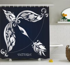 Planetary Impacts on Nature Shower Curtain