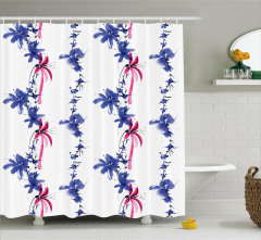 Native Asian Effect Shower Curtain