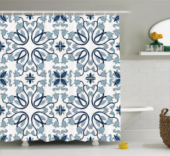 Persian Palace Buds Shower Curtain