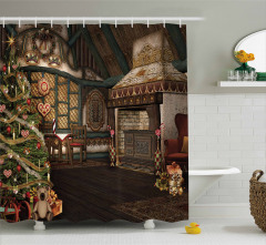 Winter Celebration Shower Curtain