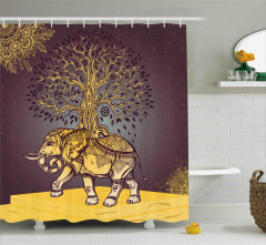 Asian Elephant in Nature Shower Curtain