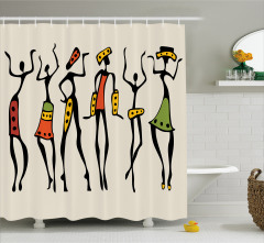 African Clan Dancer Ethnic Shower Curtain