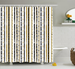 Vertical Lines Rounds Shower Curtain