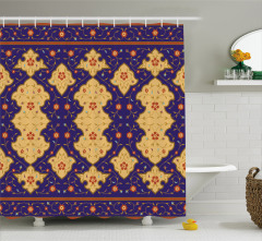 Arabic Effected Border Shower Curtain