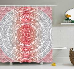 Ombre Mandala Boho Shower Curtain