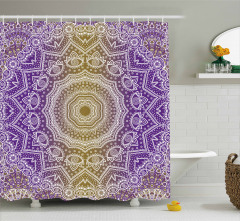 Mandala Ombre Shower Curtain