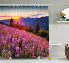 Spring Mountains Floral Shower Curtain