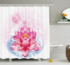 Mandala Yoga Lotus Shower Curtain