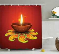 Religious Diwali Shower Curtain