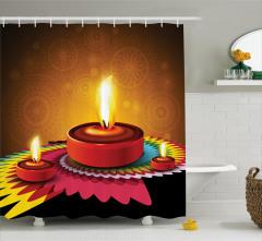 Religion Festive Shower Curtain