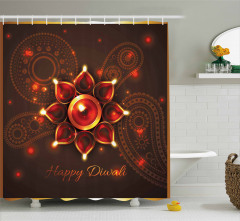 Beams and Diwali Wishes Shower Curtain