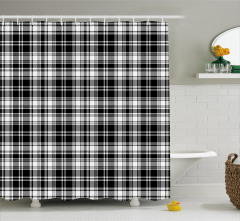 British Tartan Pattern Shower Curtain