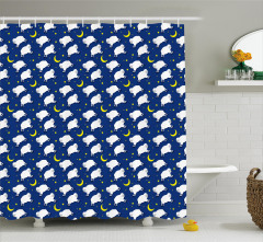 Cute Sleeping Lambs Animal Shower Curtain