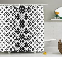Square Shape Geometric Shower Curtain