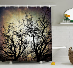 Grunge Branches Twilight Shower Curtain