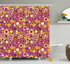 Vintage Circles Round Shower Curtain