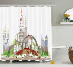 Mega City Urban Scenery Shower Curtain