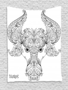 Astrology Taurus Sign Tapestry
