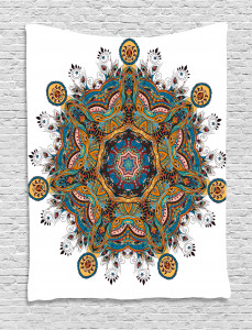 Tribal Paisley Boho Art Tapestry