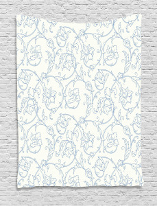 Bohemian Vintage Orchids Tapestry