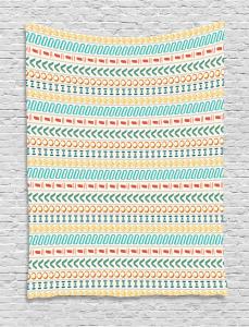 Boho Striped Motif Art Tapestry