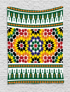 Vibrant African Pattern Tapestry