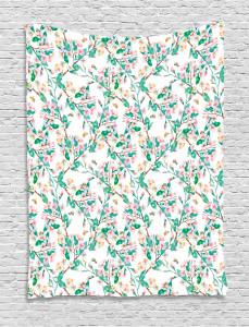 Japanese Spring Blossoms Tapestry
