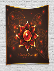 Beams and Diwali Wishes Tapestry