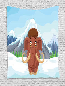 Baby Ice Snowy Mountain Tapestry