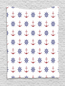 Anchors and Ship Wheels Tapestry
