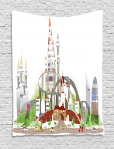 Mega City Urban Scenery Tapestry