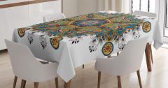 Tribal Paisley Boho Art Tablecloth