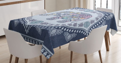 Bohemian Oriental Figure Tablecloth