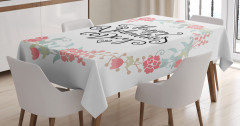 Buds Roses Tulip Tablecloth