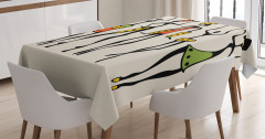 African Clan Dancer Ethnic Tablecloth