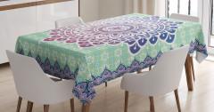 Floral Petal Form Nature Tablecloth