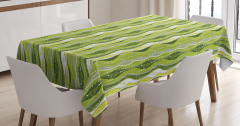Digital Leaf Floral Lines Tablecloth