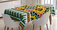 Vibrant African Pattern Tablecloth