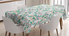 Japanese Spring Blossoms Tablecloth