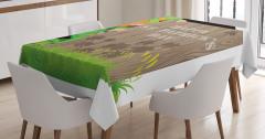 Plank Shamrock Tablecloth